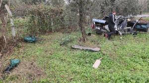 Bursa'daki kazadan feci görüntüler