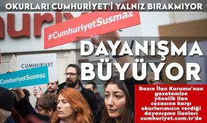 Cumhuriyet Gazetesi dayanışması büyüyor. 11 Aralık 2020 tarihli okur dayanışması ilanları
