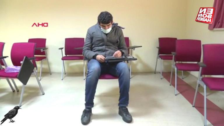 Diyarbakır'da refakatçi öğretmene, ders için oda verildi
