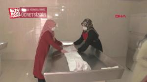 Sakarya'da gassallar koronavirüse karşı tedbirli
