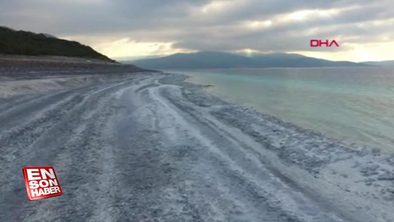 Salda Gölü kuraklık nedeniyle 20-30 metre çekildi