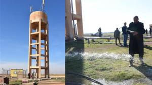 Tel Abyad'da 35 köyün su sorunu giderildi