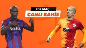 Trabzonspor – Galatasaray maçı Tek Maç ve Canlı Bahis seçenekleriyle Misli.com'da
