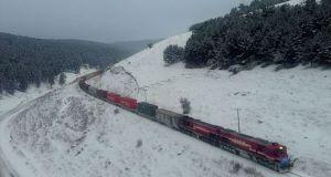 Türkiye'den Çin'e gidecek ilk blok ihracat treni Gürcistan'a doğru yola çıktı