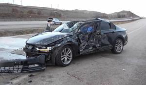 100 metre takla atan otomobil hurdaya döndü! 1 ölü, 1 ağır yaralı