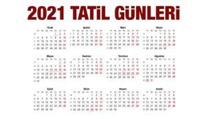 2021 resmi tatil takvimi açıklandı! Bu yıl Ramazan ve Kurban Bayramı kaç gün tatil olacak?