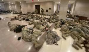 ABD alarm durumunda! Askerler Kongre binasında yatıyor
