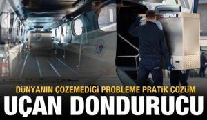 BioNTech aşıları için yolcu uçağı 'uçan dondurucu'ya dönüştürüldü