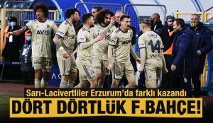 Fenerbahçe, Erzurum'da farklı kazandı!