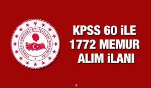 İçişleri Bakanlığı KPSS 60 puan ile 1772 memur alımı! Memur alımı başvuru ekranı