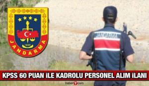 Jandarma Genel Komutanlığı (JGK) en az lise mezunu personel alım ilanı! Son başvuru ne zaman?