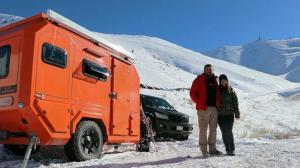 Karavanla Erzurum'la geldiler zirvede konaklıyorlar