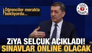 Milli Eğitim Bakanı Ziya Selçuk açıkladı! Açık Lise (AÖL) birinci dönem sınavları online olacak