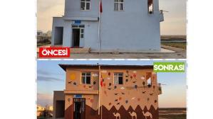 Pandemide okulları boyadılar