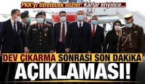 PKK'yı titretecek sözler! Dev çıkarma ile ilgili son dakika açıklaması: Karlar eriyince…