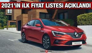 Renault 2021'in ilk güncel fiyat listesini açıkladı! Renault Clio Symbol Megane fiyatları