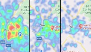 Van'daki risk haritası maviye döndü!