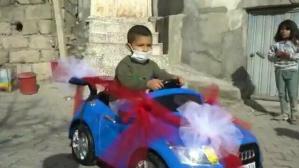 155'i arayıp akülü araba istemişti: Küçük Mehmet'e büyük sürpriz
