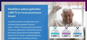 1.600TL'ye varan en yüksek emekli promosyonu QNB Finansbank'tan