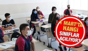 2021 Okullar ne zaman açılacak?  MEB 1 Mart ikinci dönem hangi sınıflar açılıyor? Valilikler…