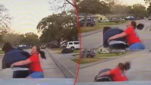 ABD'de inanılmaz anlar… Kızını gözetleyen adamı bu türlü dövdü!
