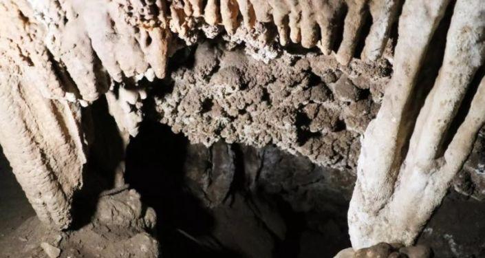 Denizli'de yer altında 'Pamukkale' bulundu
