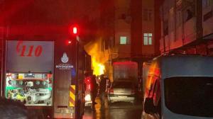 Doğalgaz kutusu bomba gibi patladı: Bir bina ve iki araç hasar gördü