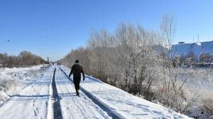 Eksi 27 derece ile Türkiye'nin en soğuk yeri oldu