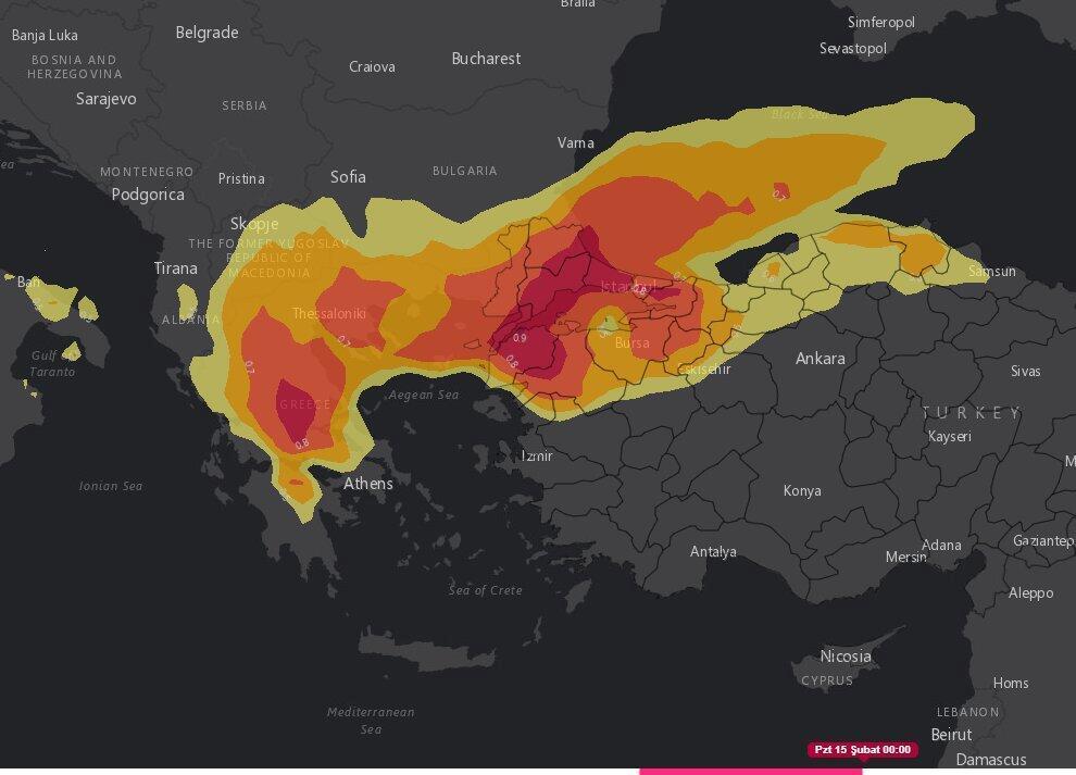 İstanbul'a Peş Peşe Uyarılar… Yoğun Kar Yağışının Haritası Paylaşıldı