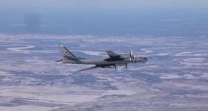 Rusya Savunma Bakanlığı Tu-95MS bombardıman uçağının uçuşunu görüntüledi