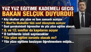 Son dakika: Milli Eğitim Bakanı Ziya Selçuk yüz yüze eğitim için tarihi verdi!