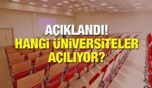 Üniversiteler ne zaman açılacak? 4 Üniversiteden kritik karar! Baharda yüz yüze eğitime…