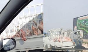 Yine bir et skandalı, Kilolarca et bu şekilde taşındı!