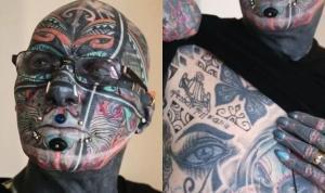 Almanya'nın dövme insanı: Vücudunun yüzde 98'i dövmeyle kaplı