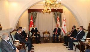 Cumhurbaşkanı Tatar, TBMM Dışişleri Komisyonu Başkanı Kılıç ve beraberindeki heyetle görüştü