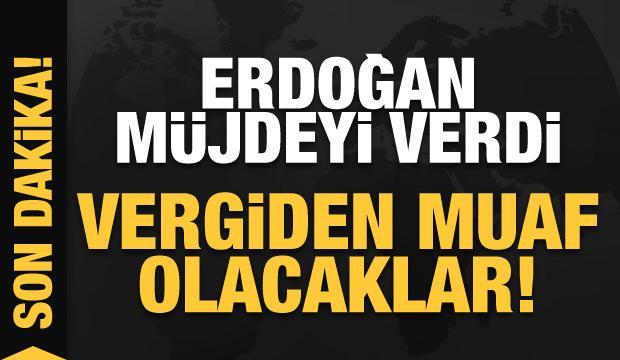 Erdoğan'dan esnafa büyük müjde! Vergiden muaf olacaklar