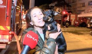 Eve duman dolduğunu gören kahraman köpek, sahibini ölümden kurtardı