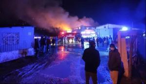 İstanbul Bayrampaşa'da korkutan yangın!