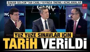 Milli Eğitim Bakanı Ziya Selçuk'tan son dakika yüzü yüze eğitim açıklaması! Tarih verdi