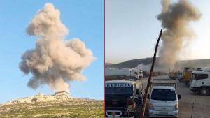 Rejim uçakları akaryakıt istasyonlarını maksat aldı