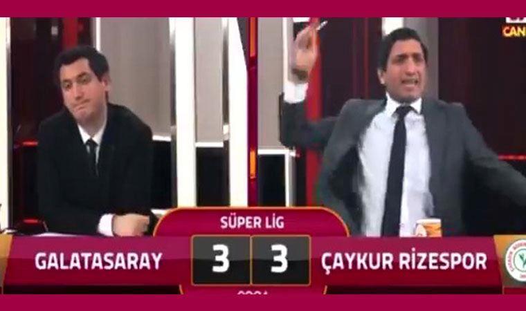 Rizespor'un golü sonrası GS TV spikerinin tepkisi sosyal medyada gündem oldu
