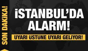 Son dakika: İstanbul'da kuvvetli yağış! Alarm verildi! Uyarı üstüne uyarı geliyor