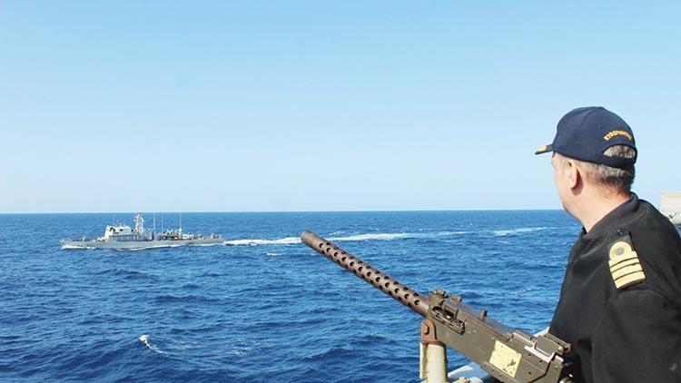 Türkiye'ye karşı dörtlü deniz tatbikatı