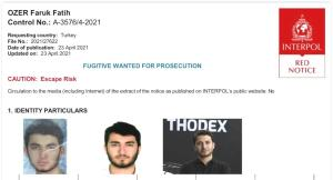 Thodex Kurucusu Fatih Özer İçin Kırmızı Bülten Çıkarıldı
