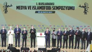 Diyanet İşleri Başkanı Erbaş, 1. Uluslararası Medya ve İslamofobi Sempozyumu'nda konuştu