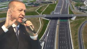 Erdoğan: Kuzey Marmara Otoyolu'nu 45 kilometrelik Nakkaş Başakşehir kısmıyla büyütüp 443 kilometreye çıkarıyoruz