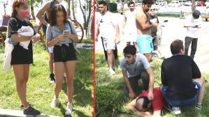 Plaj kabininde üzerini değiştiren genç kızları çeken sapık, çevredekiler tarafından derdest edildi