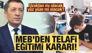 Telafi eğitimi için Milli Eğitim Bakanlığı'ndan kritik karar! Bakan Selçuk açıklamıştı! MEB yüz yüze..