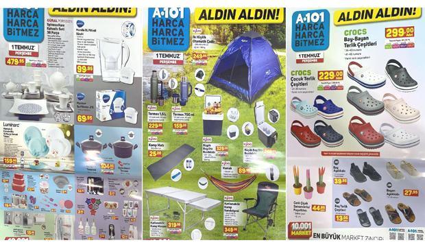 1 Temmuz A101 Aktüel Ürünler Kataloğu! Yemek takımı, elektronik, kamp ve bahçe ürünlerinde…