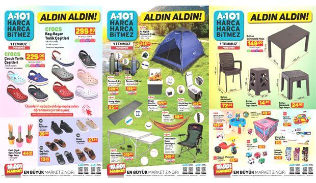 A101 1 Temmuz Aktüel Kataloğu! Yemek takımı, elektronik, kamp ve bahçe ürünlerinde…